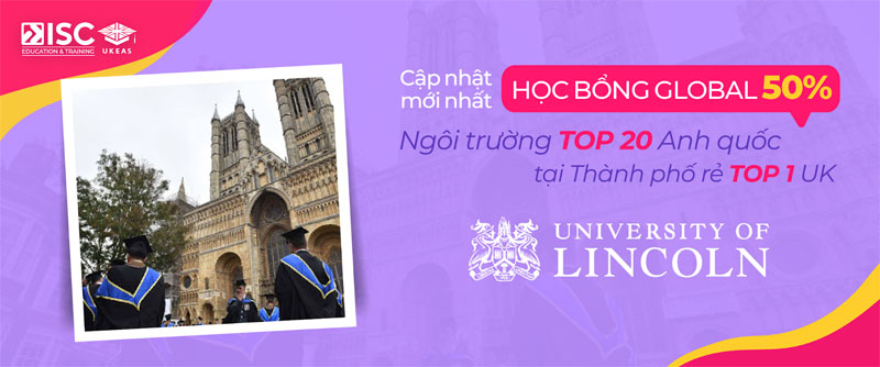 Học bổng University of Lincoln