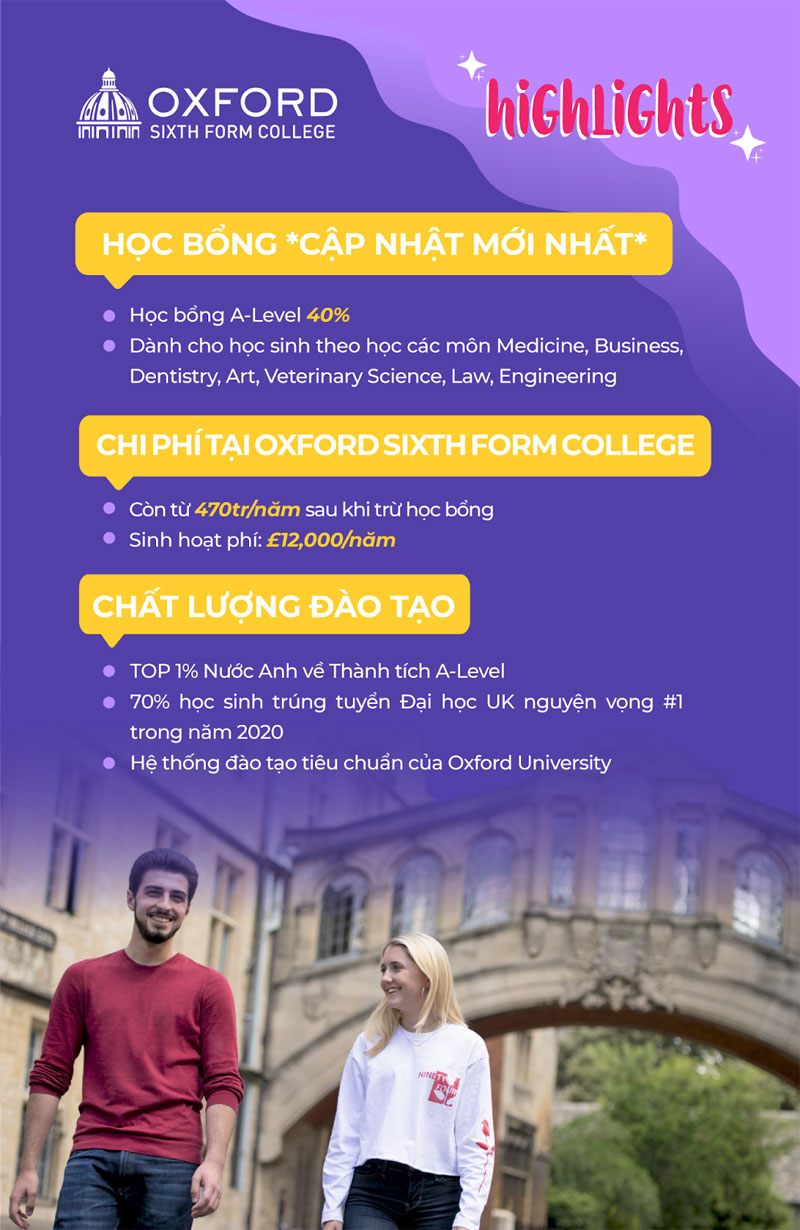 Học bổng Oxford Sixth Form College
