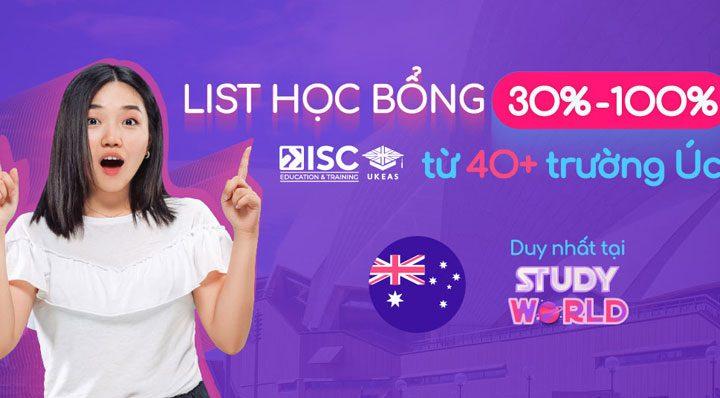 Danh sách học bổng 40+ trường Úc tại triển lãm Study World 2021