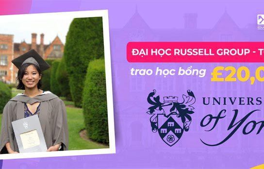 University of York – Học bổng £20,000